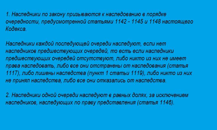1141 ГК РФ