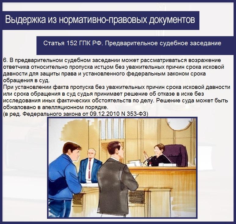 Статья 152 ГПК РФ. Предварительное судебное заседание