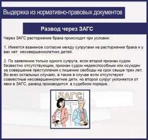 Развод через ЗАГС - подробно о процедуре!