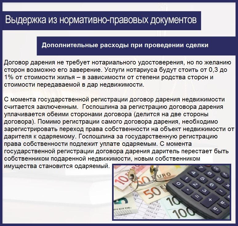 Дополнительные расходы при проведении сделки