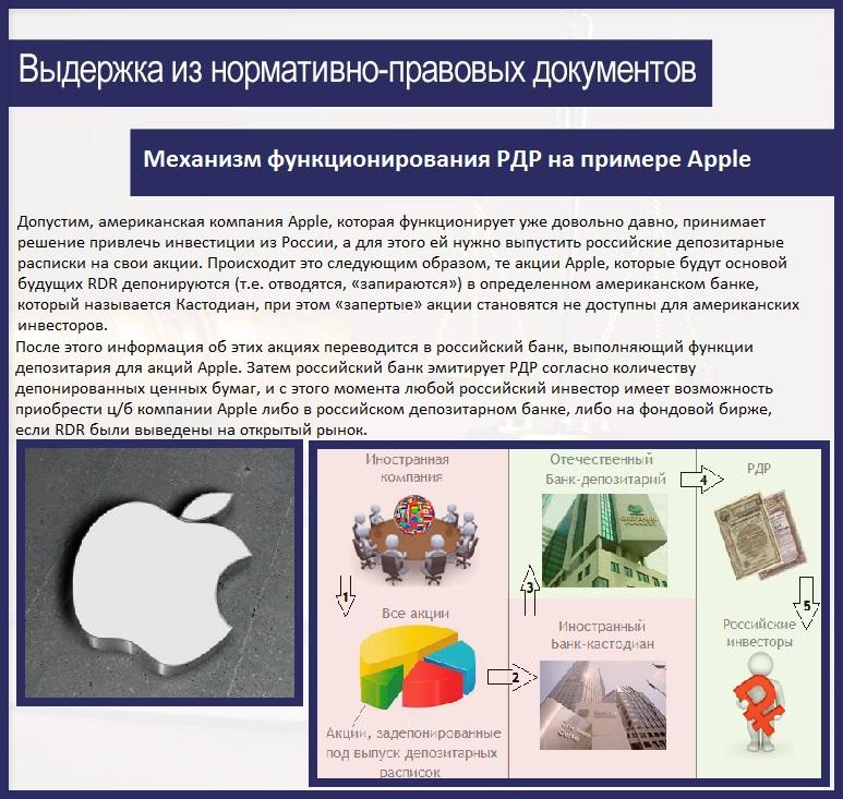 Механизм функционирования РДР на примере Apple
