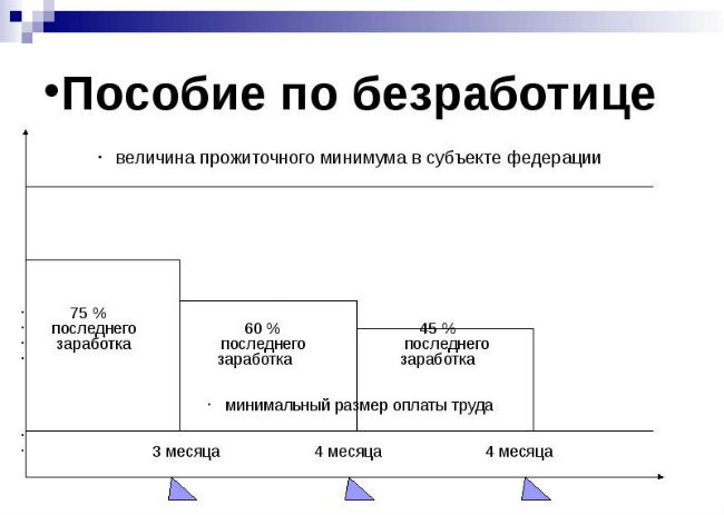 Размер выплаты пособий по безработице