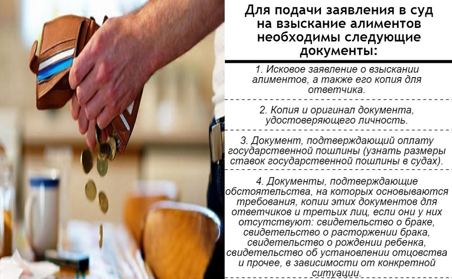 Документы для подачи заявления в суд на взыскание алиментов
