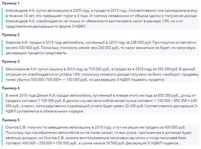 Примеры расчета вычетов