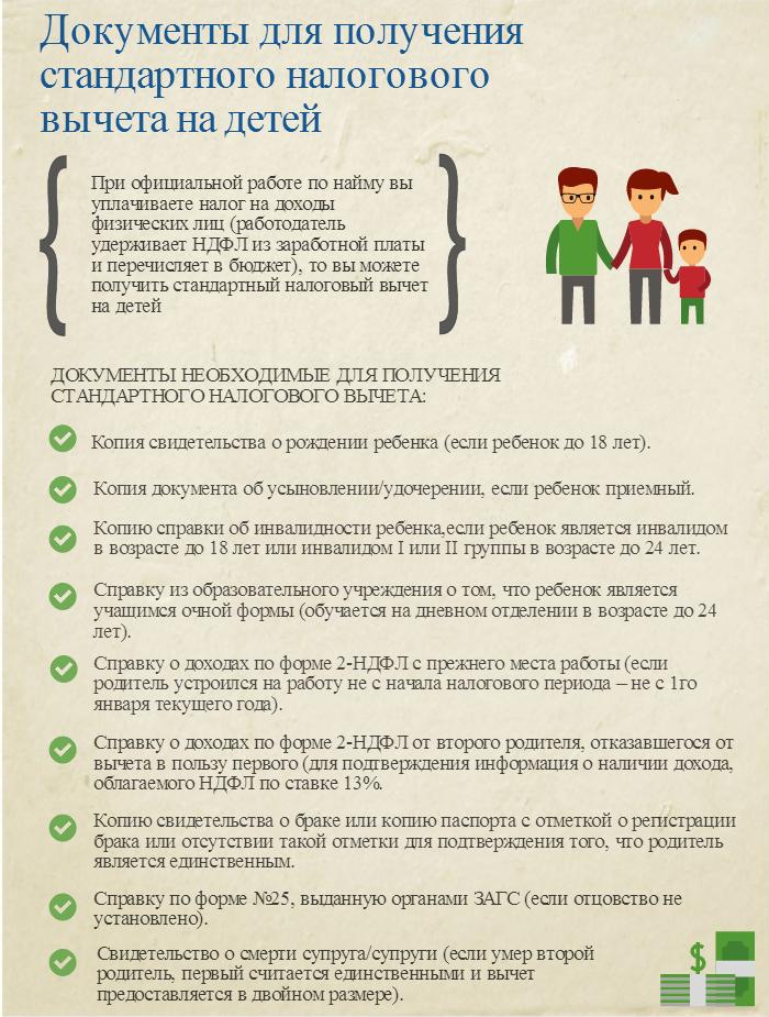 Необходимые документы для получения налогового вычета на детей