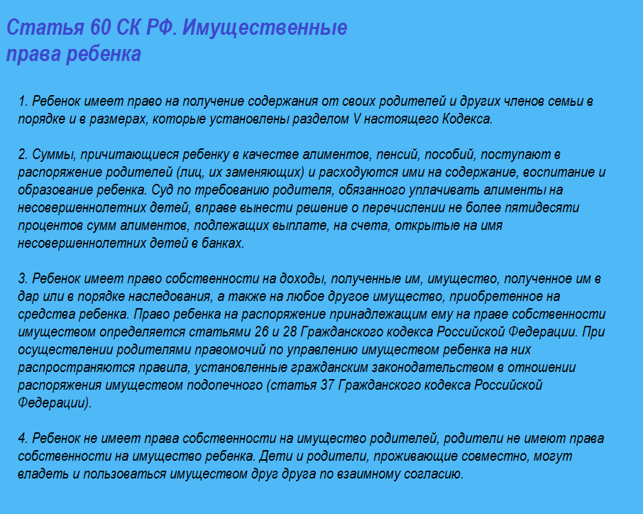 Ст. 60 СК РФ