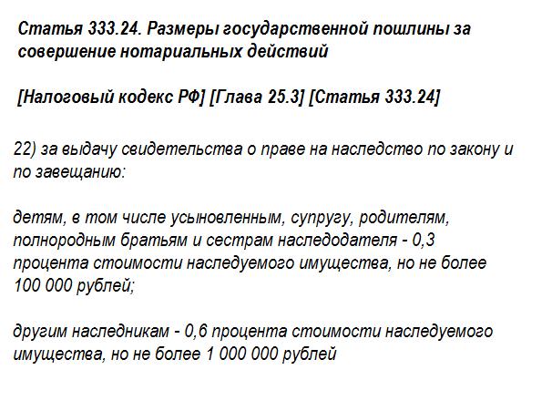 Статья 333.24 НК РФ пункт 22