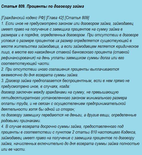 гражданский кодекс рф договор займа