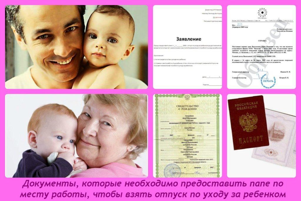 Документы для оформления декретного отпуска отцу