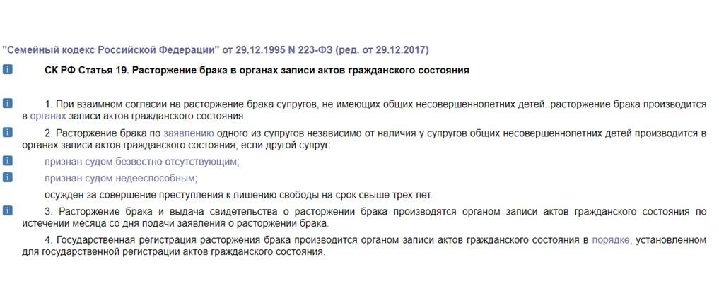 Статья 19 СК РФ