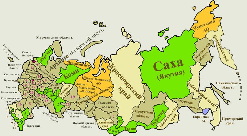 В каждом из восьмидесяти пяти субъектов РФ принимаются свои акты о льготах для пенсионеров