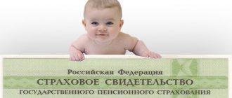 Как получить СНИЛС на новорожденного ребенка
