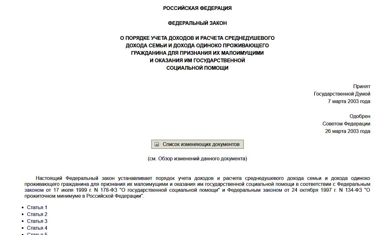 Федеральным Законом от 05.05.2003 года