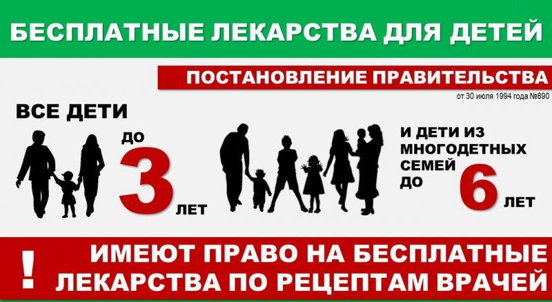 Бесплатные лекарства для детей