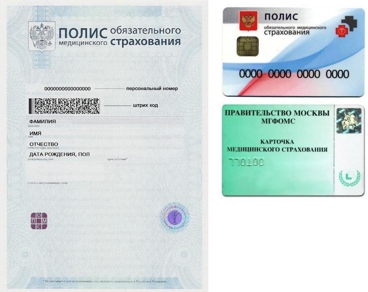Виды полисов ОМС в России