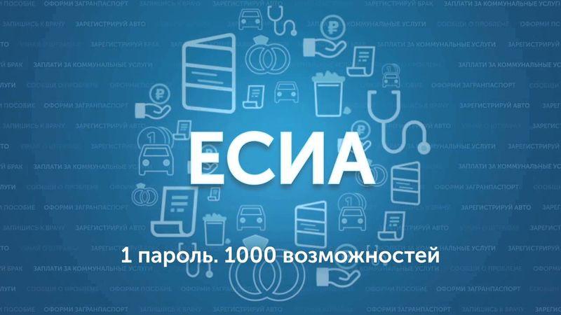 ЕСИА расшифровывается как Единая Система Идентификации и Аутентификации